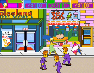#3 The Simpsons Arcade Game