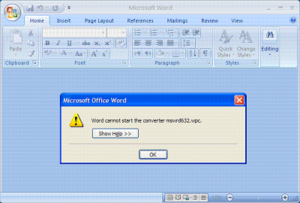 Word cannot start the converter mswrd632 wpc error office