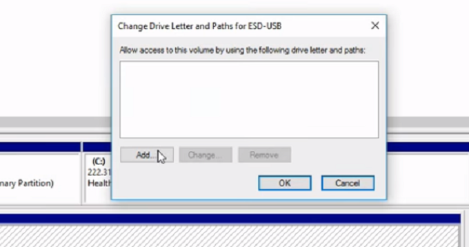 change usb path