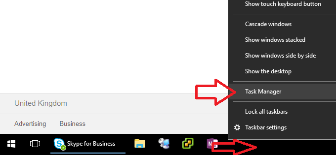 taskbar not hiding windows 10