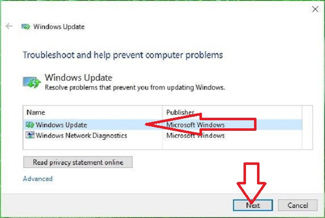 Windows Update Troubleshooter Tool