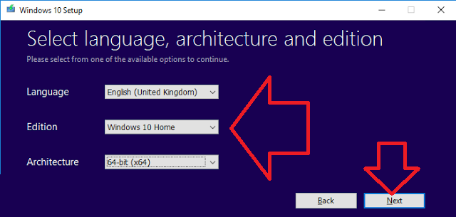 recovery disk language