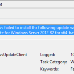 Installation Failure: Windows Failed To Install The Following Update With Error 0x800F0831