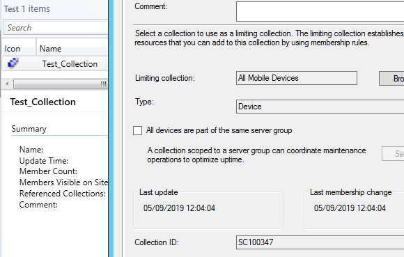 SCCM Collection ID