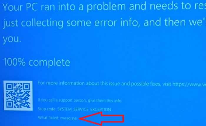 System Service Exception what failed
