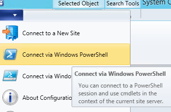 configuration manager powershell