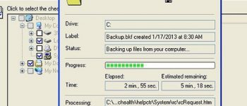 how to backup files in Windows XP