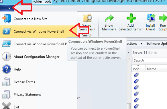 system center configuration manager powershell