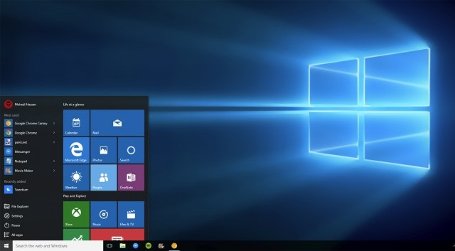 windows 10 64 bit desktop