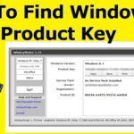 How To Find Windows 8 (8.1) Product Key