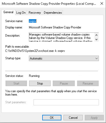 Microsoft Software Shadow Copy Provider Service