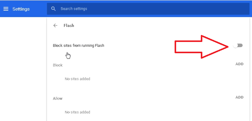 google chrome enable flash