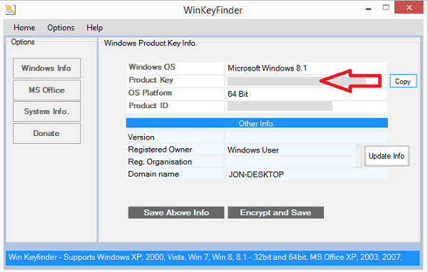 winkeyfinder windows 8 product code
