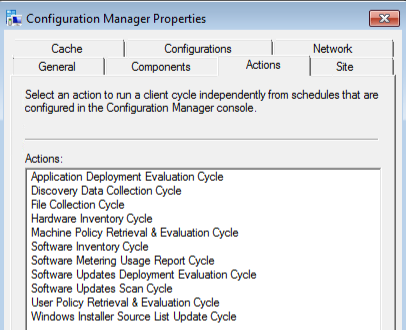 configuration manager policy loaded