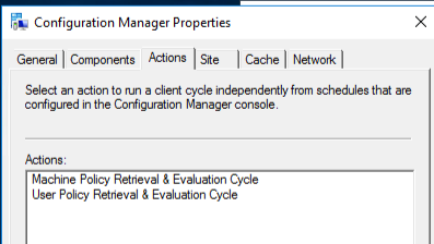 configuration manager policys