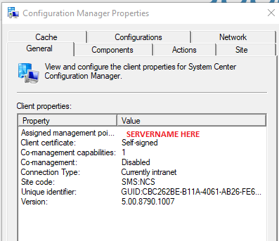 configuration manager properties