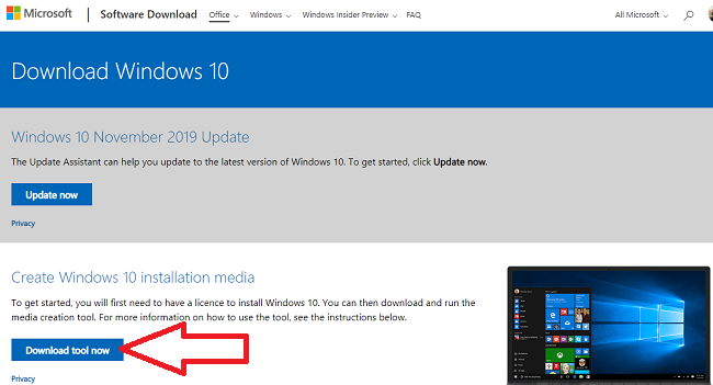 Windows 10 1909 Installation Tool
