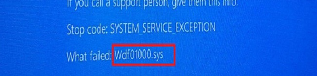 blue screen wdf01000_sys