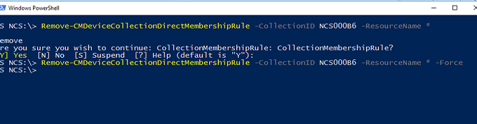 bulk remove devices from SCCM device collection