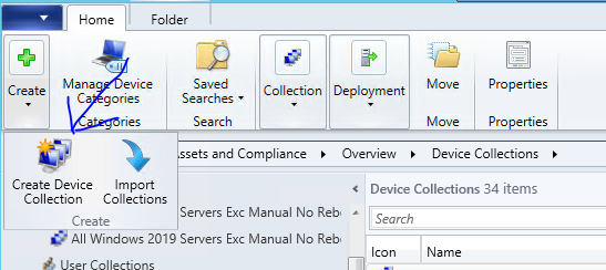 create SCCM collection