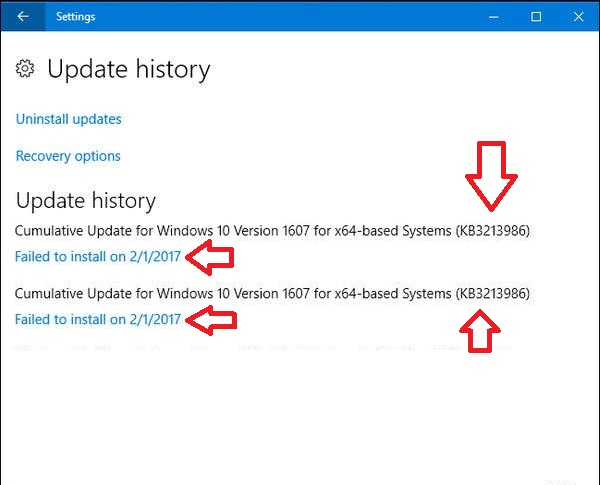 windows 10 1903 updates failed