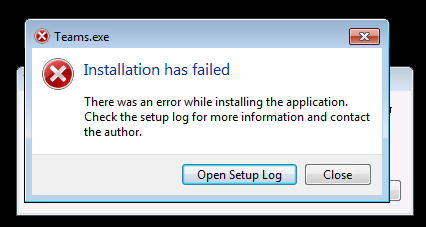 microsoft teams installation has failed on citrix