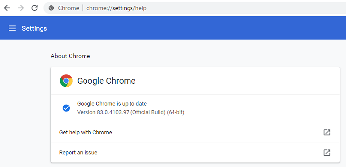 google chrome updated latest version