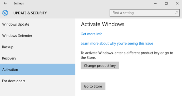 windows 10 manual activation