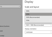 change size of text windows 10