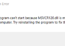 msvcr120 missing error windows 10