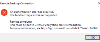 RDP-authentication-failed