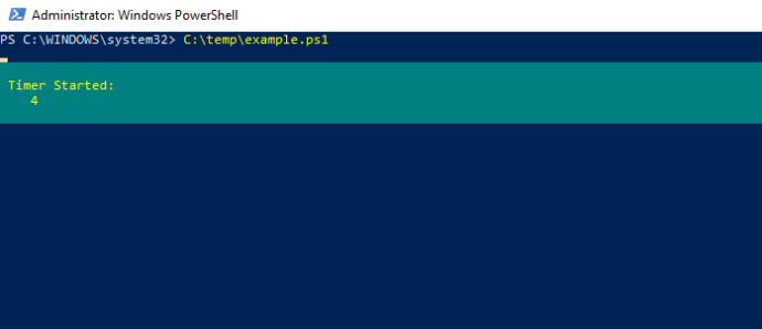 powershell timer started