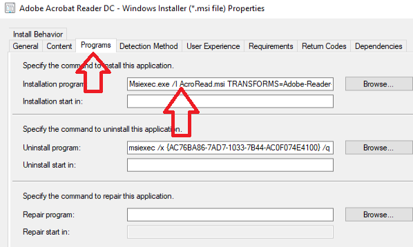 sccm task sequence application